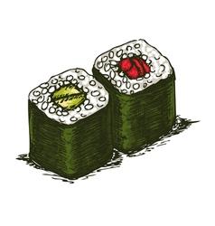 Tasty rolls vector