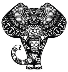 tattoo elephant vector image vector image