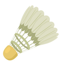 Tennis shuttlecock icon cartoon style vector
