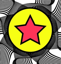 Abstract background with Star on a Circle vector image