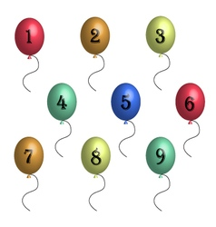 Birthday balloons in 3d vector