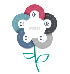 Stylized flower trendy design for infographics vector image
