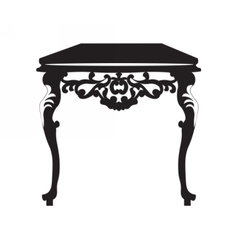 Baroque royal table with ornaments vector