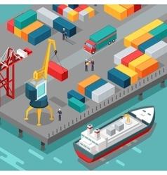 Container terminal platform supply vessel vector