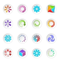 Download status icons set vector