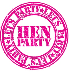 Hen party vector