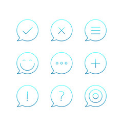 Outline icons set thin line icons collection vector