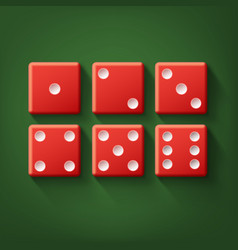 Set of red dice vector