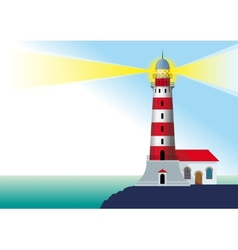 Glowing lighthouse vector