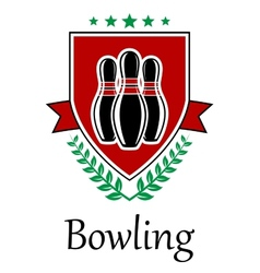Bowling symbol for sporting deseign vector image