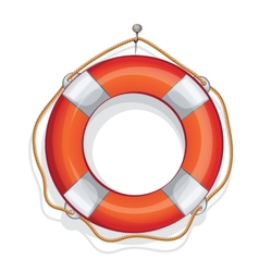 Cartoon of lifebuoy vector
