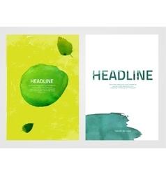 Watercolour eco brochures vector