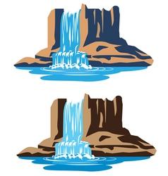 Waterfalls vector image