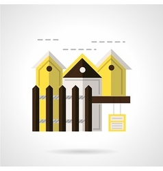 Residential area abstract flat icon vector