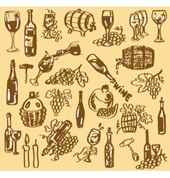 Drawing wine vector