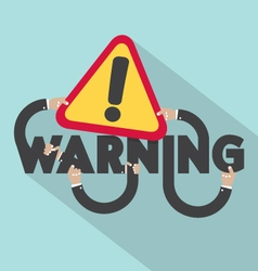 Warning typography design vector