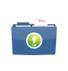 Upload folder icon vector