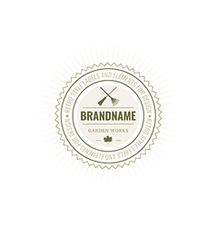 Flowers logotype label badge vector
