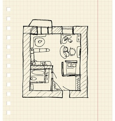 Redevelopment of apartment sketch vector