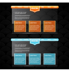 Two stylish website templates vector image