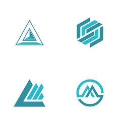 abstract triangle logos vector image