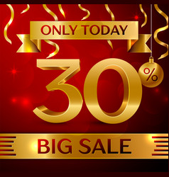 Big sale thirty percent for discount vector