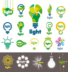 biggest collection of logos lamps vector image