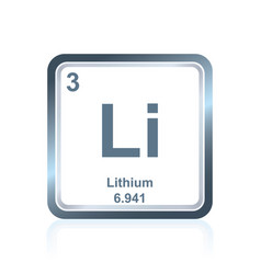 Chemical element lithium from the periodic table vector