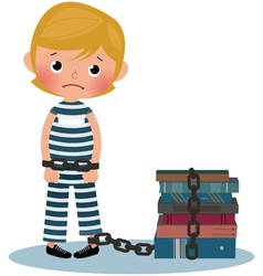 Child prisoner vector image vector image