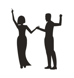couple dancing at party on vector image