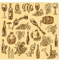 Drawing wine vector