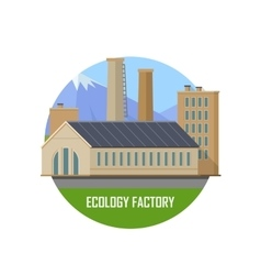 Ecology factory icon vector