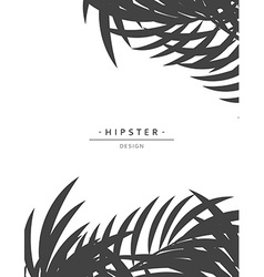 Exotic background with gray palm leave for design vector