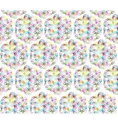 Flower of life seamless pattern for your design vector