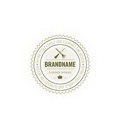 flowers Logotype Label Badge vector image vector image