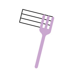 Fork with delicious spaghetti isolated icon vector