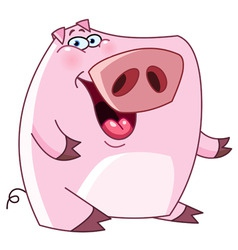 friendly pig vector image vector image