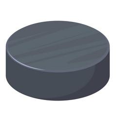 Hockey puck icon cartoon style vector