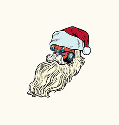 isolated car santa claus christmas characte vector image