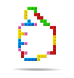 Like symbol from plastic toy blocks vector image vector image