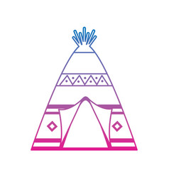 Native american indian teepee home with tribal vector