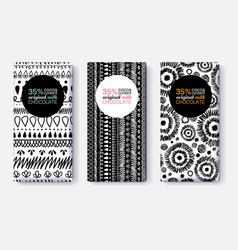 set of black and white chocolate bar vector image vector image