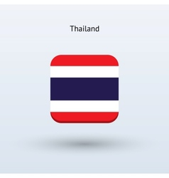 Thailand flag icon vector