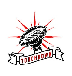 Touchdown Hand Draw vector image vector image