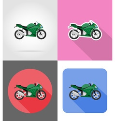 Transport flat icons 54 vector