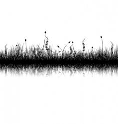 vegetation silhouette vector image