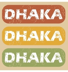 Vintage dhaka stamp set vector