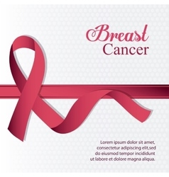 ribbon breast cancer design vector image