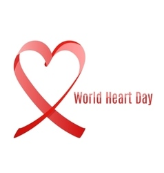 World heart day ribbon vector