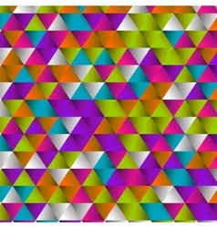 geometric triangle pattern background vector image